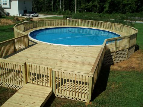Backyard Patio Ideas With Above Ground Pool picture