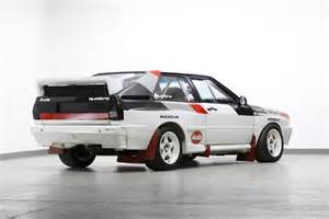 Audi A1 Wrc For Auction Ex Works 1982 Audi Quattro A1 B Rally Car