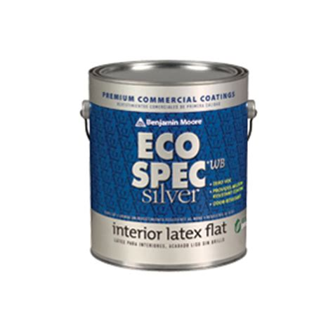 eco spec paint eco spec 174 wb silver interior latex paint usa benjamin