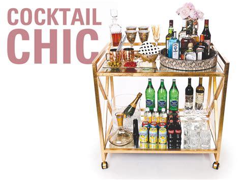Stylish Entertaining by Stock Your Newlywed Bar Cart With Stylish Entertaining