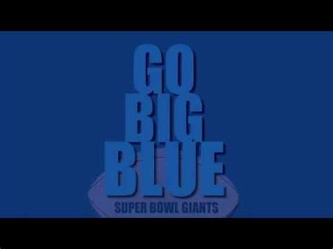 go big blue the ny giants song with lyrics