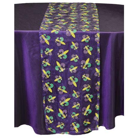 mardi gras table runner mardi gras fleur de lis table runner purple sheer