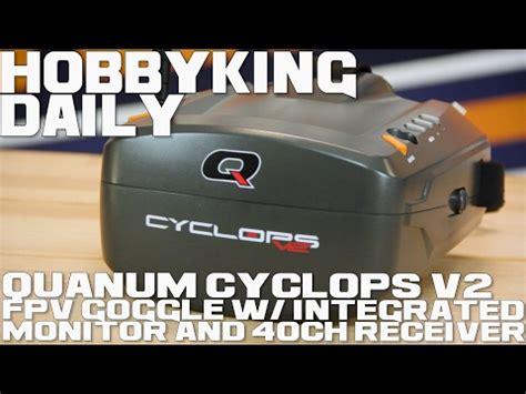 Quanum Cyclops Fpv Goggle W Integrated Monitor And Rec Diskon quanum cyclops v2 fpv goggle w integrated monitor and 40ch receiver hobbyking daily racer lt