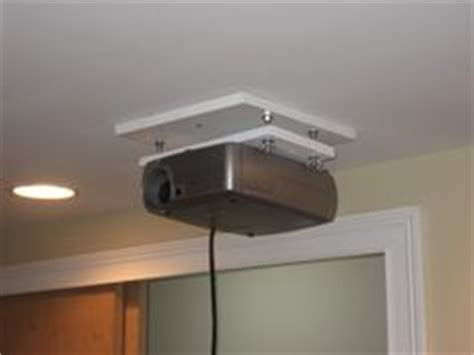 hack an stolman shelf into a sturdy projector ceiling