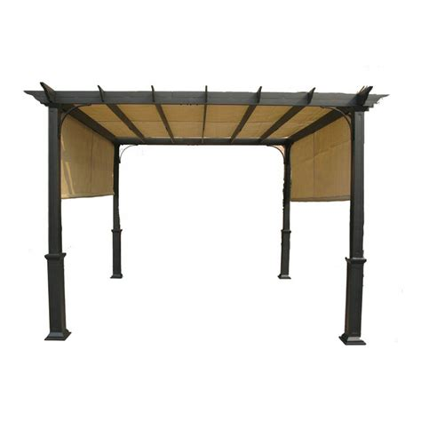 pergola canopy replacement lowes garden treasures 10 ft pergola replacement canopy