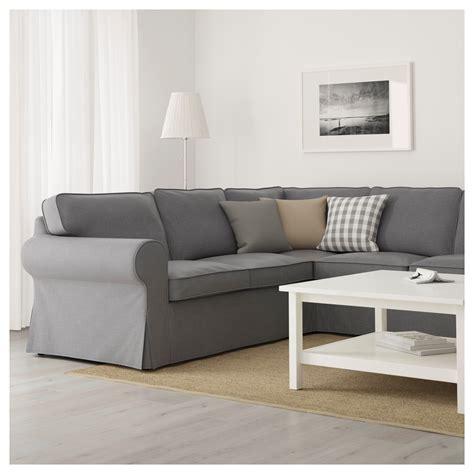 4 seat corner sofa ektorp corner sofa 4 seat nordvalla dark grey ikea