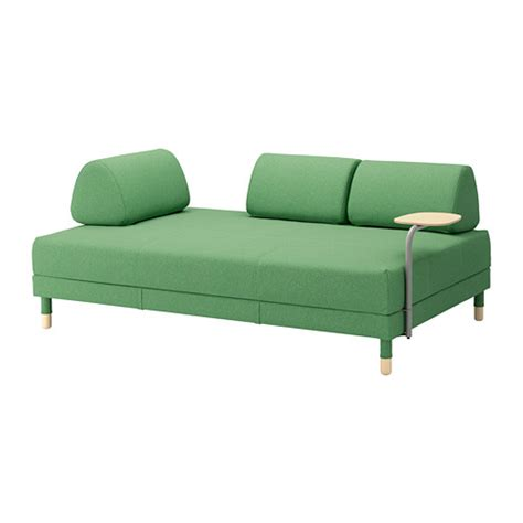 futon bettsofa flottebo sofa bed with side table lysed green ikea