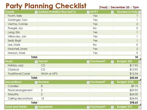 event planning to do list template planning checklist let me entertain you