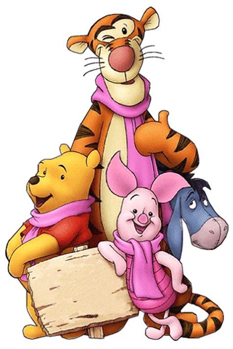 imagenes de winnie pooh y puerquito tigger igor puerquito y winnie pooh con bufandas rosas