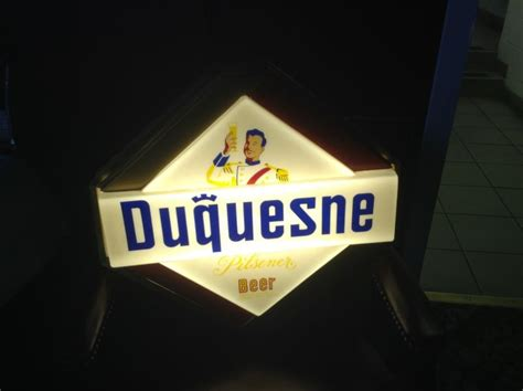 light up advertising signs duquesne shop collectibles daily