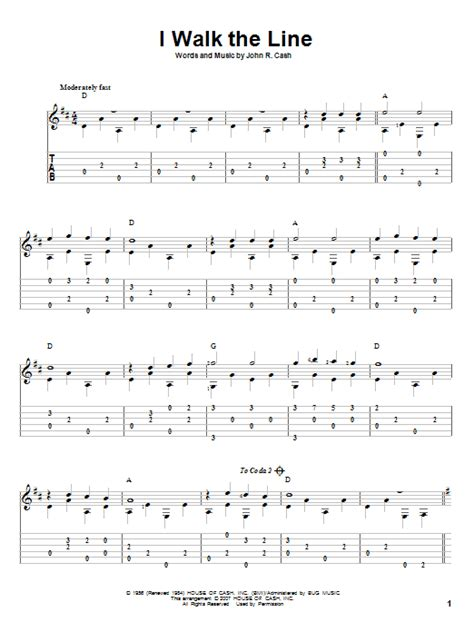 Walk The Line Guitar Chords