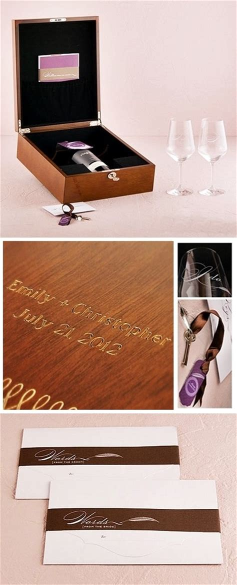 Wedding Box With Wine And Letters by Personalized Letter And Wine Ceremony Keepsake Box