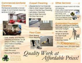 Back Brochure From Procleanersnj Carpet Cleaning
