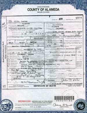 Alameda County Birth Records Birth Certificate California Alameda County Image