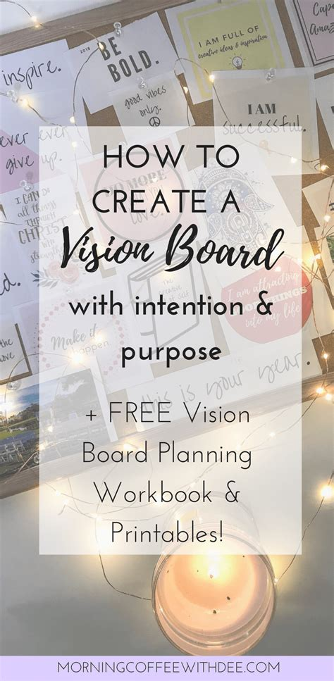 how to create a vision board a cup how to create a vision board with intention purpose