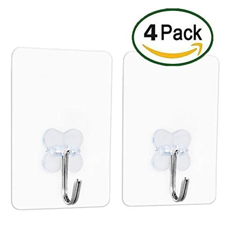 wall hooks without nails from usa adhesive transparent heavy duty wall hooks