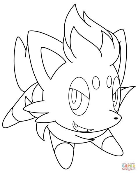 pokemon coloring pages of zorua zorua pokemon coloring page free printable coloring pages