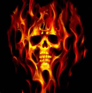 Flaming skull quot by darrell photos redbubble
