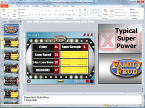 Family Feud Customizable Powerpoint Template Youth Downloadsyouth Downloads Family Feud In Powerpoint