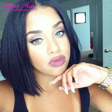 10 inch weave hairstyles 7a grade queen malaysia virgin short straight hair bundles