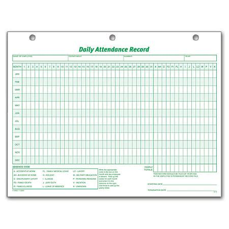 Tops Daily Attendance Record 8 12 X 11 Pack Of 50 By Office Depot Officemax Search Results For Free Printable Employee Attendance Record 2015 Calendar 2015