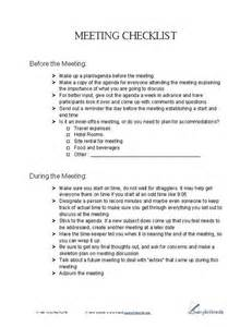 meeting checklist business forms pinterest