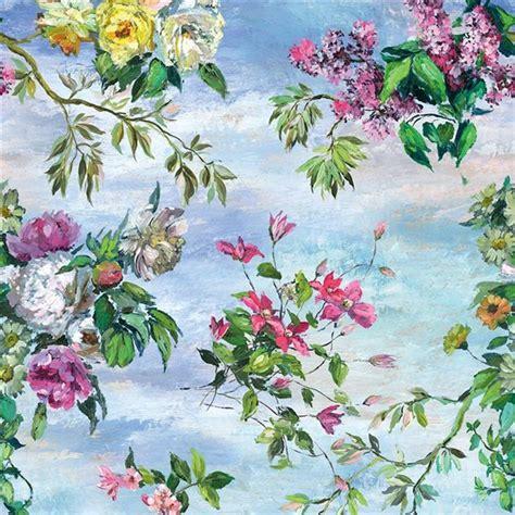 Blue Skies Arabesque caprifoglio grande sky fabric designers guild