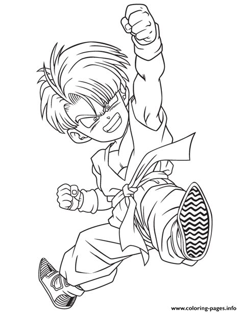 Dragon Ball Z Kid Trunks Coloring Page Coloring Pages Z Printable Coloring Pages