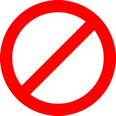 no sign clipart no sign