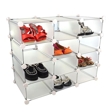 shoe compartment storage new 12 compartment shoe storage interlocking box display
