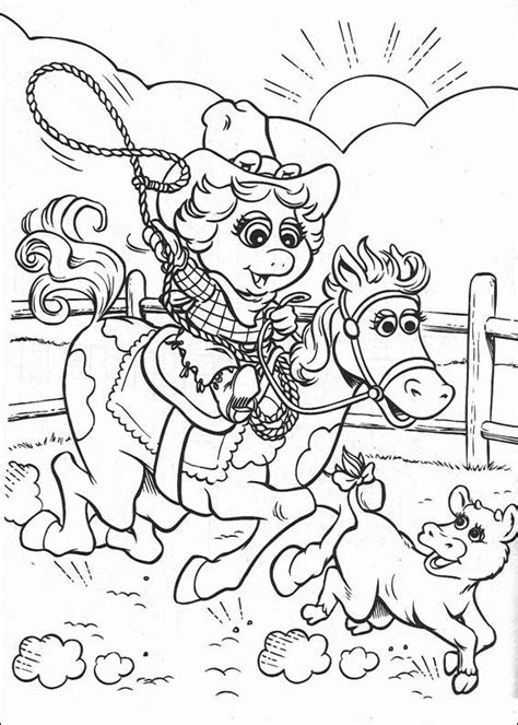 Muppets Baby Coloring Pages Coloringpages1001 Com Miss Piggy Coloring Pages