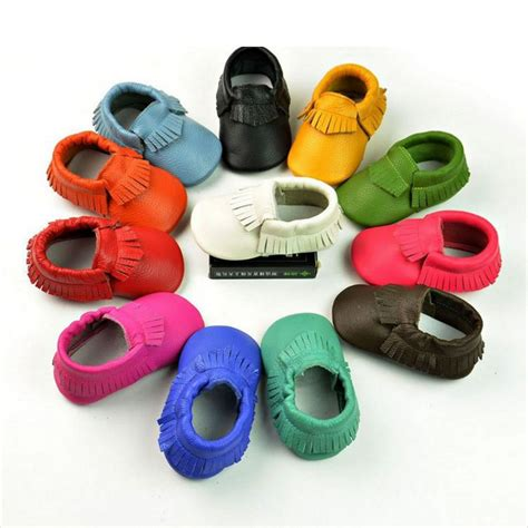 New Arrival S736bl Prewalker Black baby newborn tassels leather shoes soft anti slip