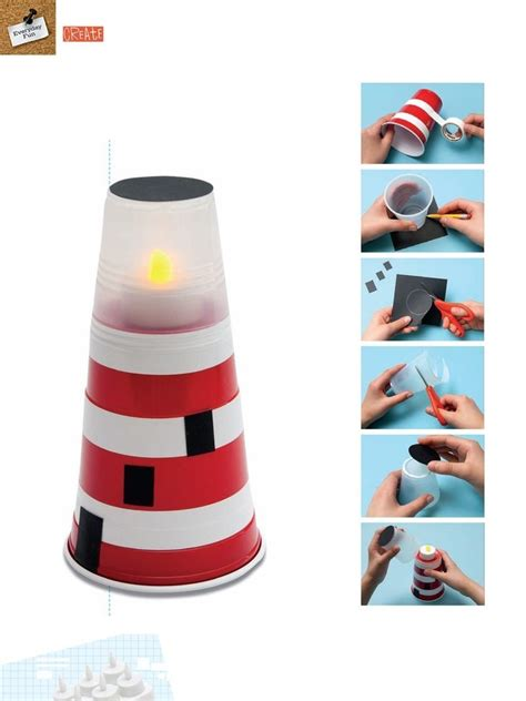 mini lighthouse crafts ideas to do with the kids pinterest