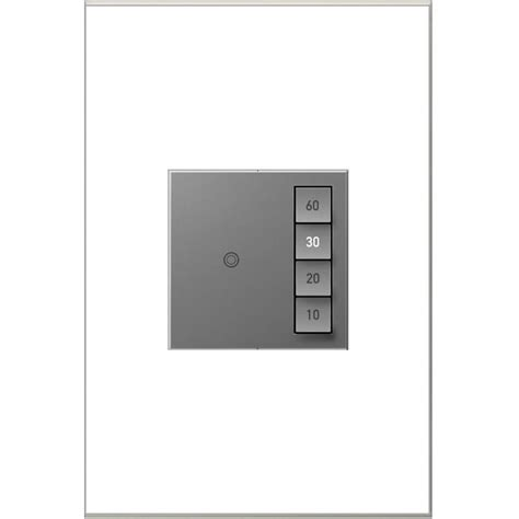 adorne by legrand shop legrand 15 amp adorne sensaswitch magnesium single