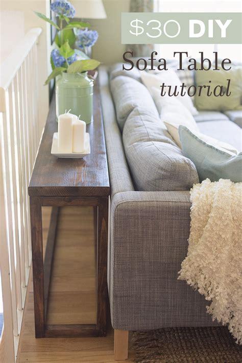 sofa tables and more 30 diy sofa console table tutorial diy sofa console