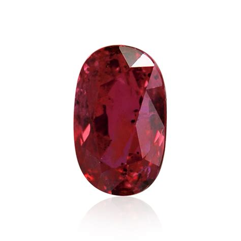 2 01 carat pinkish ruby gemstone oval shape cd