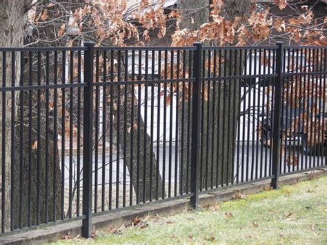 metal fence sections 72 quot h x 72 quot w aluminum fence section 4 rail at menards 174