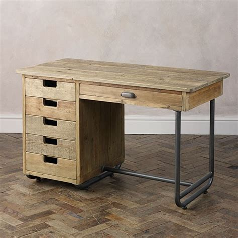 Industrial Modern Desk Baxter Industrial Desk From Lombok Modern Desks Shopping Housetohome Co Uk