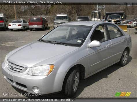 2004 Kia Spectra Lx Clear Silver 2004 Kia Spectra Lx Sedan Gray Interior