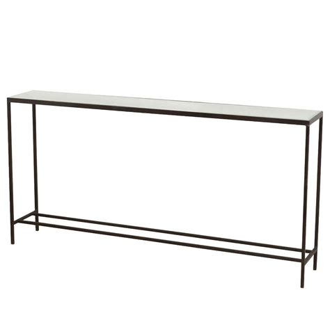 Thin Console Table Howard Modern Thin Mirrored Wide Console Table Kathy Kuo Home