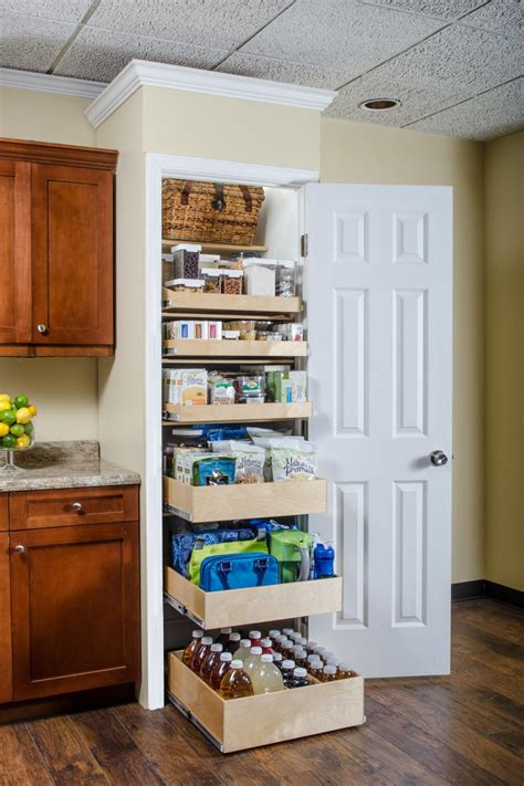 pantry shelf pics section slide shelves kitchen cabinets pantry laundry room storage organization ideas