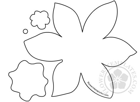 template of a daffodil daffodil paper flower cut out flowers templates