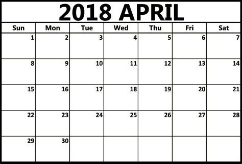 april 2018 calendar editable april 2018 calendar printable templates