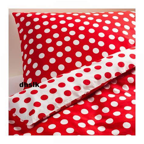 ikea red and white bedding ikea stenklover duvet cover set polka dots stenkl 214 ver