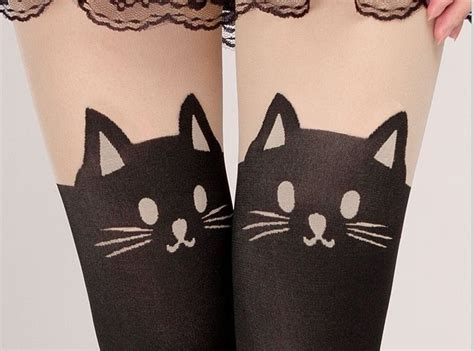 clothing review tattoo cat tights a gaci my early 20 ship from ny cat tail tattoo tights on luulla