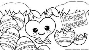 coloring pages of easter eggs and bunnies easter eggs coloring pages