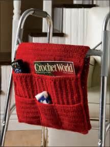 Armchair Caddy Pattern Crochet Walker Caddy Pattern