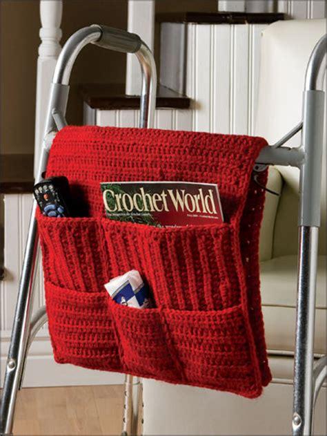 crochet walker bag pattern crochet walker caddy