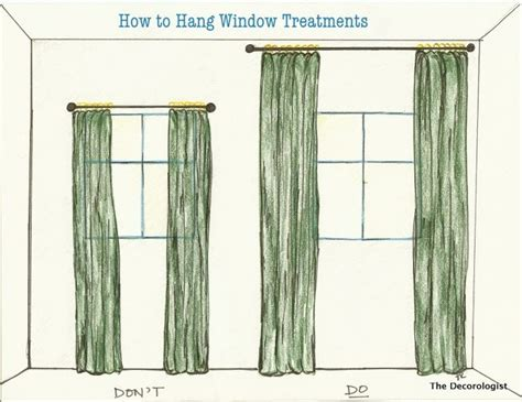How To Hang Window Treatments | best 25 hang curtains ideas on pinterest kitchen blinds