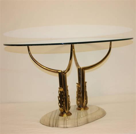1960s italian brass marble and glass coffee table at 1stdibs